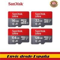 100% Sandisk class10-tarjeta sd micro tf 16 gb 32 gb 64gb tarjeta de memoria sd de 128gb