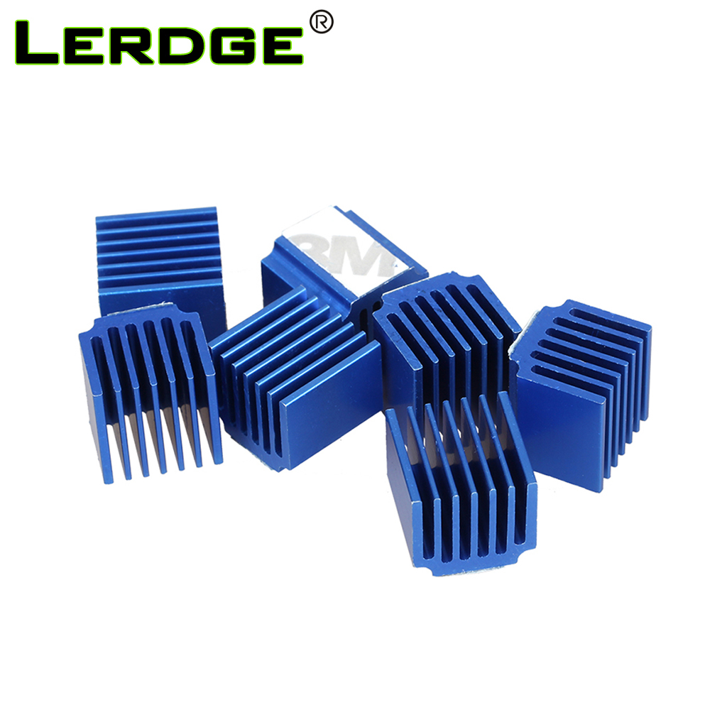 LERDGE Stepper Motor Driver Heat Sinks Cooling Block Heatsink For TMC2100 LV8729 DRV8825 Drive Module 3D Printer Parts 4pcs/lot