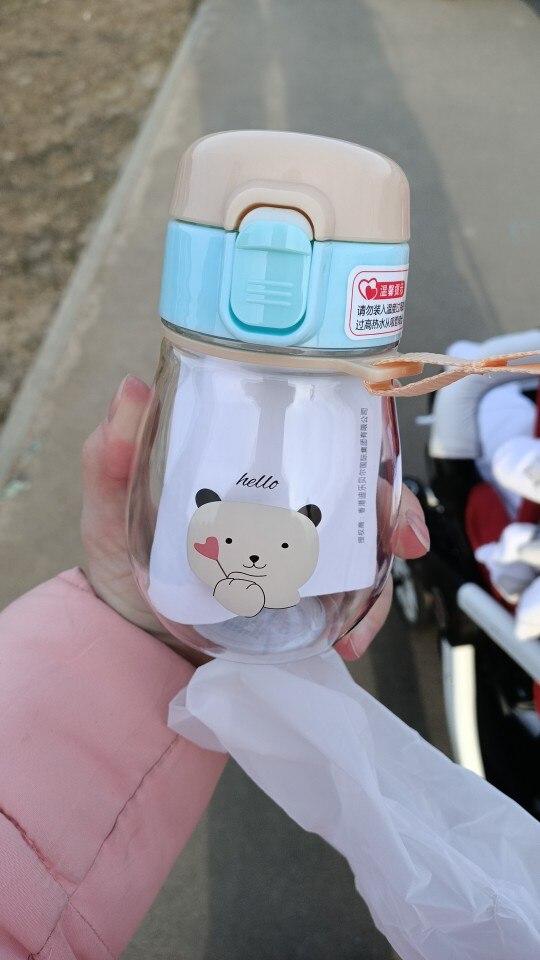 JOUDOO 350ml Kids Water Bottle With Straw Rope Portable Bottles for Children BPA Free Plastic Sports Direct Drinking Drinkware35|Water Bottles|   - AliExpress