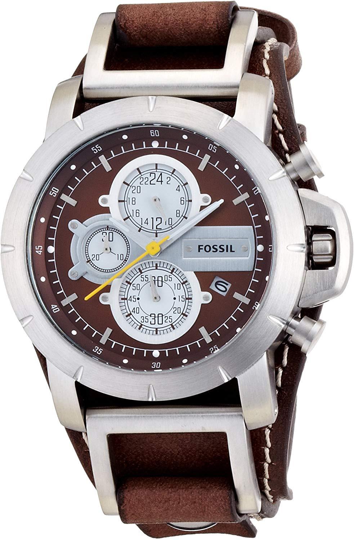 FOSSIL Men Original Watch  Chronograph  Stainless Steel Watch  Quartz Metal Casual Watch Sport Wrist Watch Luxury Brand  JR1157