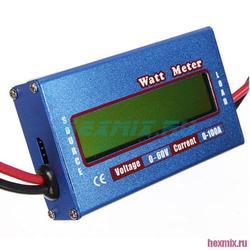 تيار مستمر واط متر Wattmeter 60 فولت/100 أمبير