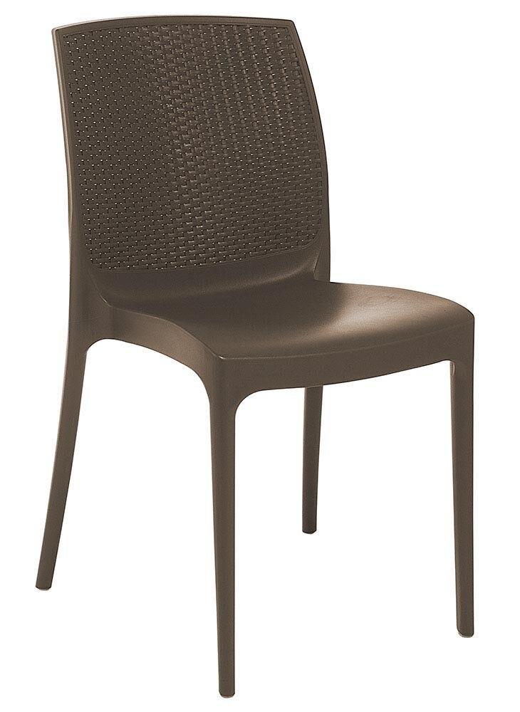 Chair BORA, Polypropylene Brown Chocolate