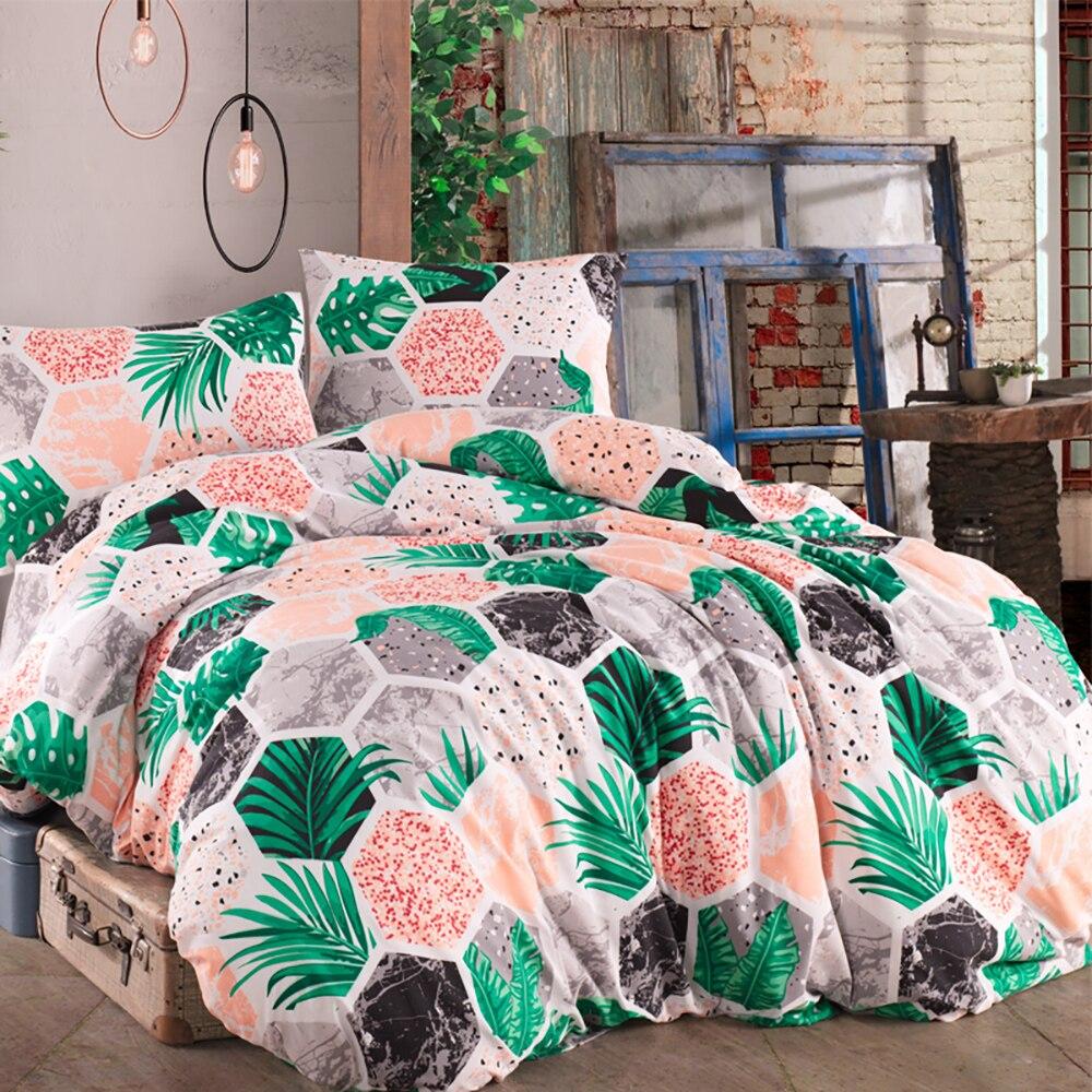 Lady Moda Hawai Luxury Bed Linen Cotton Set Ranforce Bedding Sets Twin/Full/Queen/King Size 3/4/5 Pcs Bed Sheet Duvet Cover Set
