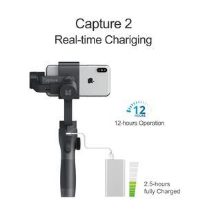 Image 2 - Funsnap Capture2 3 Axis Handheld Gimbal Stabilizer For Smartphone Samsung Iphone X XR 8 7 Gopro Camera Action EKEN 1 Gimbal Kit