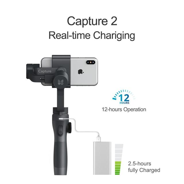 Funsnap Capture2 3 Axis Handheld Gimbal Stabilizer For Smartphone Samsung Iphone X XR 8 7 Gopro Camera Action EKEN 1 Gimbal Kit 1