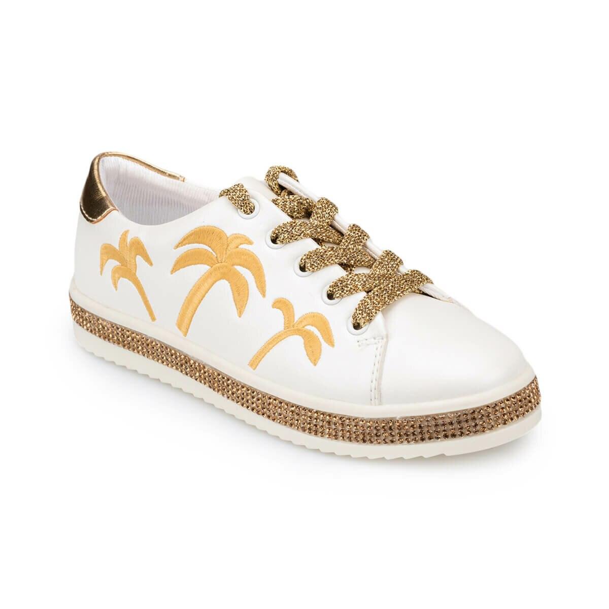 FLO 91.511243.F White Female Child Shoes Polaris