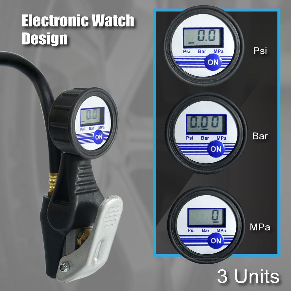 LEMATEC skaitmeninis padangų pripūtiklis su manometru automobilių - Elektriniai įrankiai - Nuotrauka 2