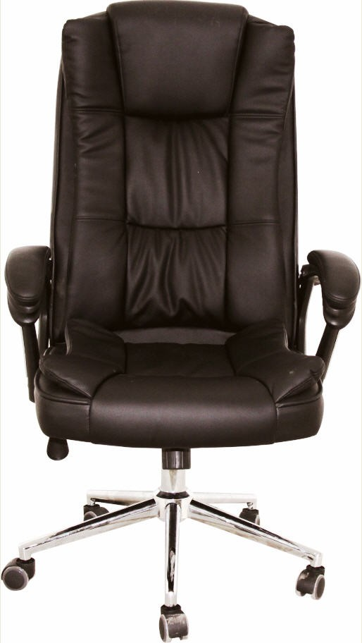 Office Armchair DUKE (H), High, Gas, Tilt, Similpiel Black