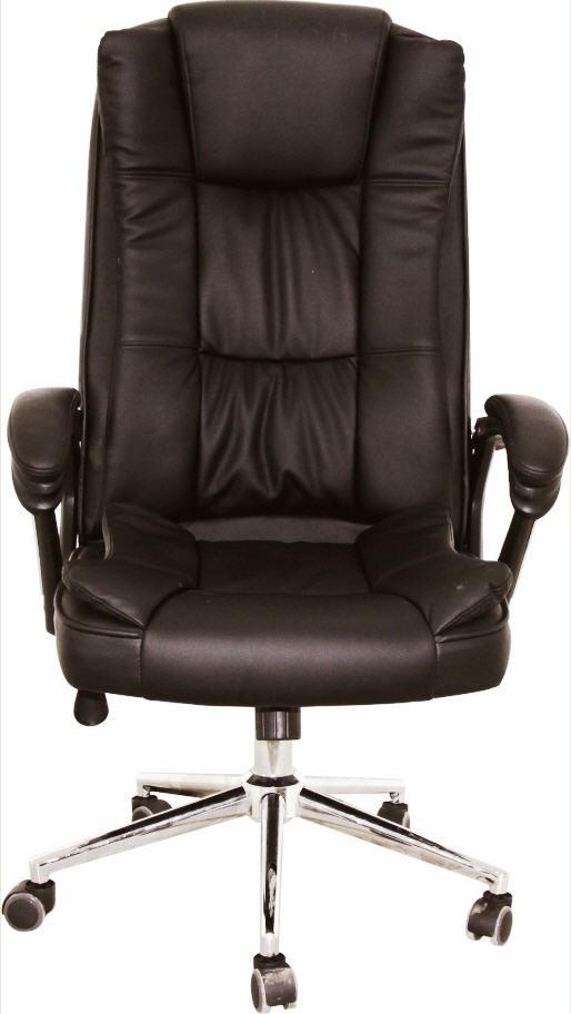 Office Armchair DUKE (H), High, Gas, Tilt, Similpiel Black