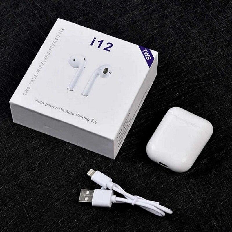Fone de ouvido sem fio + i12 tws + airpods + original + bluetooth + iphone + android