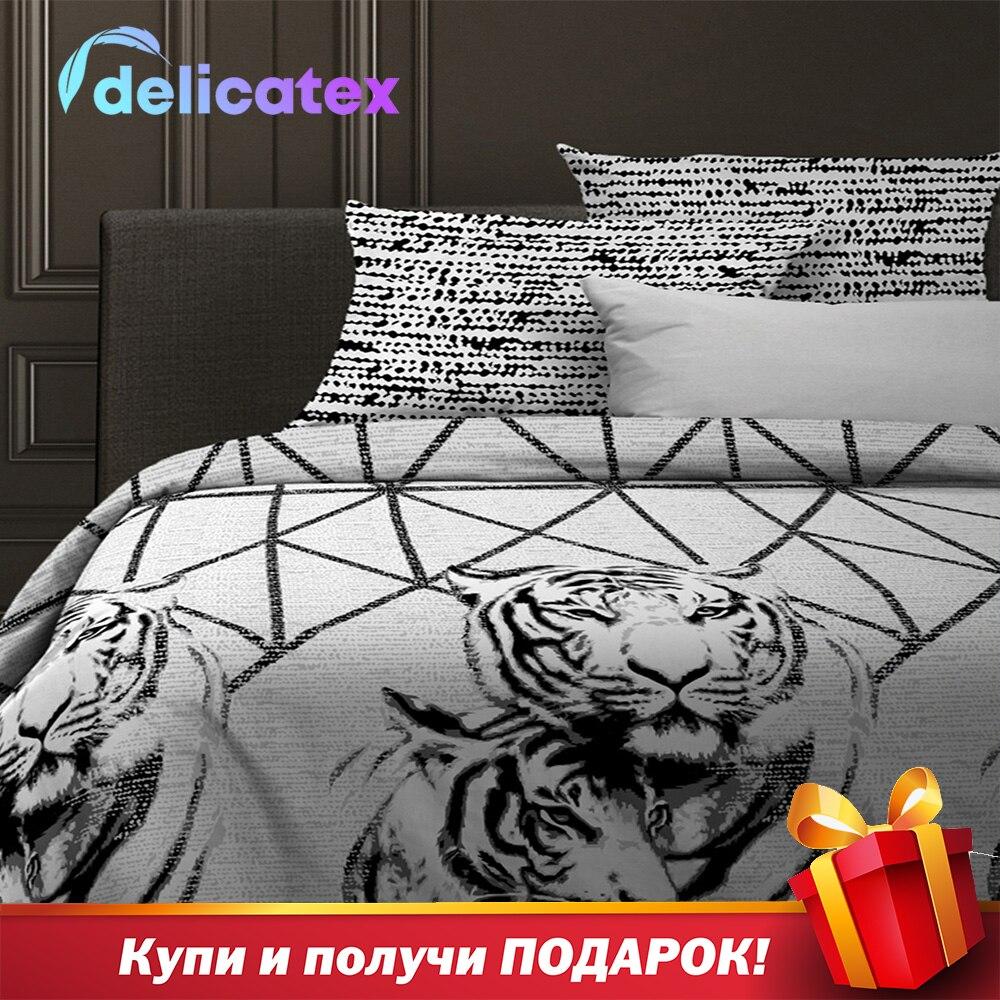 Nevresim takımı Delicatex 15836-1 + 15845-1Russiancats ev tekstili çarşaf keten yastık kapakları nevresim Рillowcase