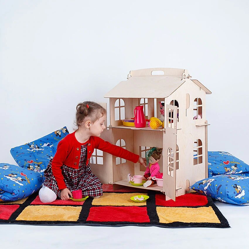 ><font><b>Dolls</b></font> Home Toys <font><b>house</b></font> DIY Painting Construction Board Education Toy Children Gifts <font><b>doll</b></font> <font><b>accessory</b></font> block part puzzle DFB-2d