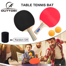 Outtobe Table Tennis Racket Ping Pong Paddle Set with 2 Bats and Balls Case