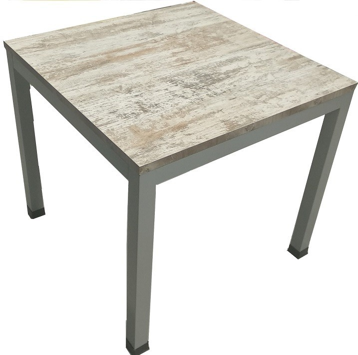 Table DIXON Metal Top Bilaminated Vintage 80,5x80,5 Cms.