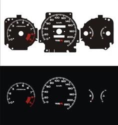 DASH EL Glow Gauge for EK4 SiR 1996 1999 Manul Transmission 220 KM 9500 RPM