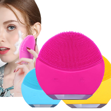 Skin Care Machine Mini Electric Facial Cleaning Brush Silicone Sonic Vibracion Deep Pore Cleaner Face Massager Vibrator Brush цена и фото
