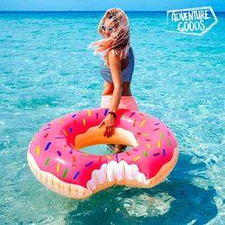 Adventure Goods Inflatable Pink Swim Ring