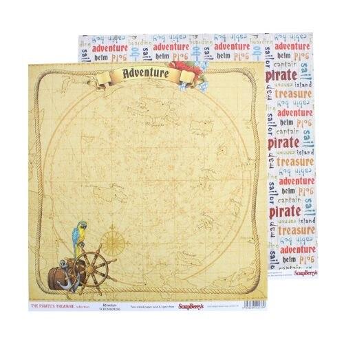 Scb2206092060 papier d/schrott zwei-sterne schatz piraten echt abenteuer, 30,5x30,5 cm 190gr/m, 10 teile/paket