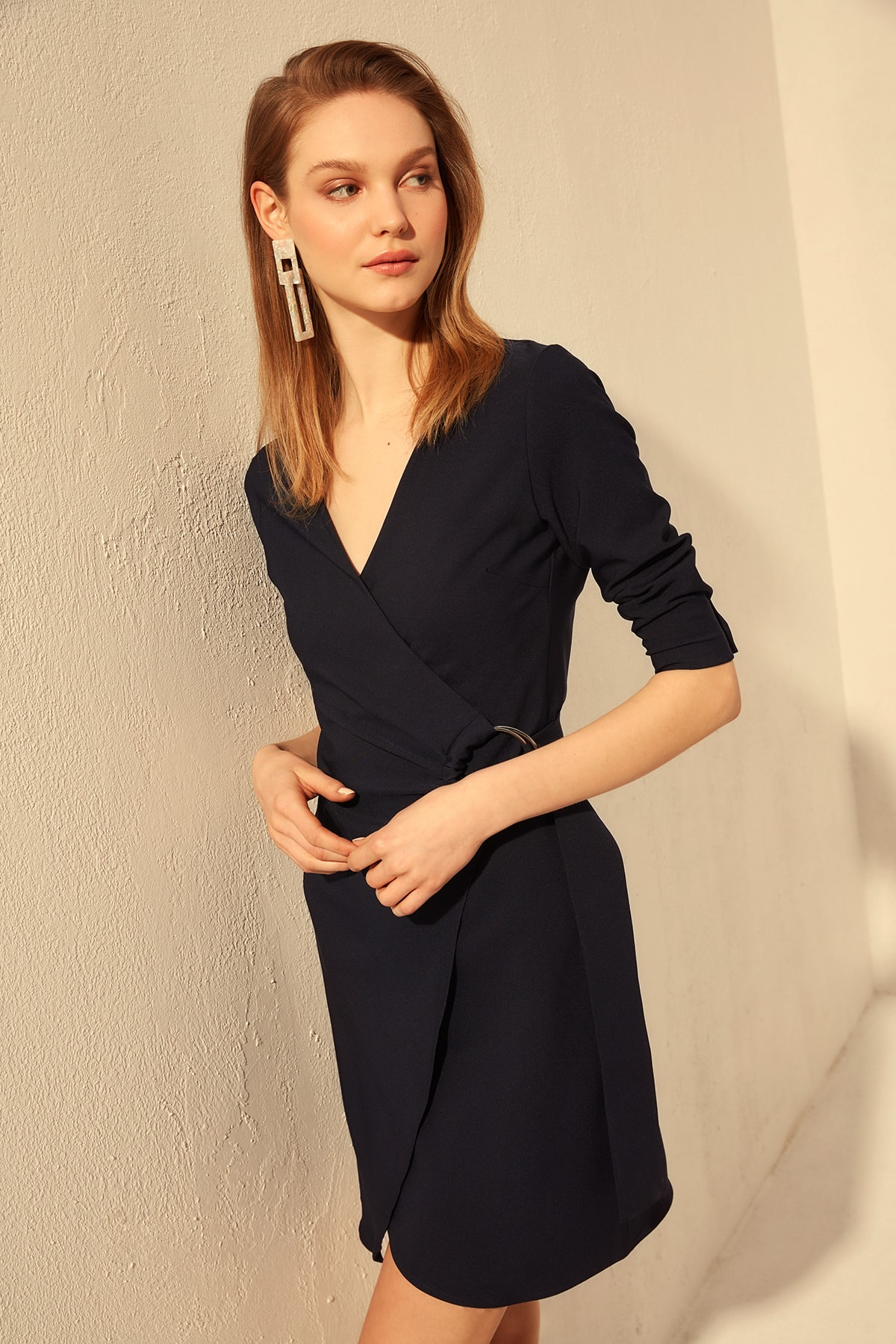 Trendyol Belt Detail Dress TWOSS20EL0524