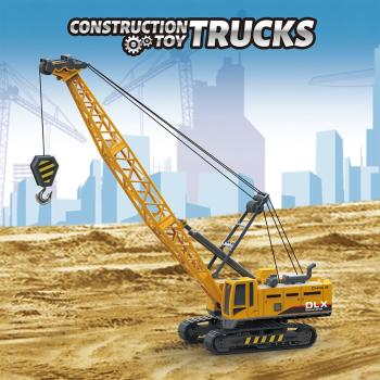 Crane Toy Construction Vehicle 1:50 Diecast Engineering Excavator Truck Tractor Model Car Toy for Children, Gift for Boy Toddler