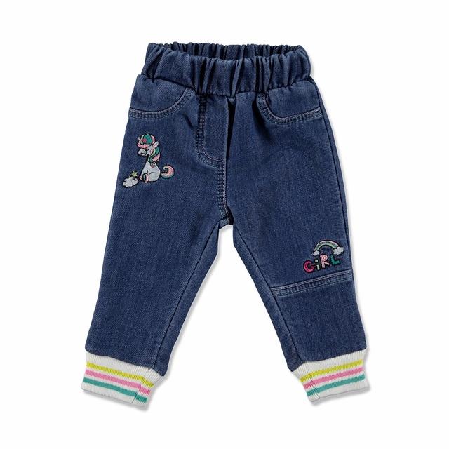 Baby Unicorn Embroidery Cotton Pants