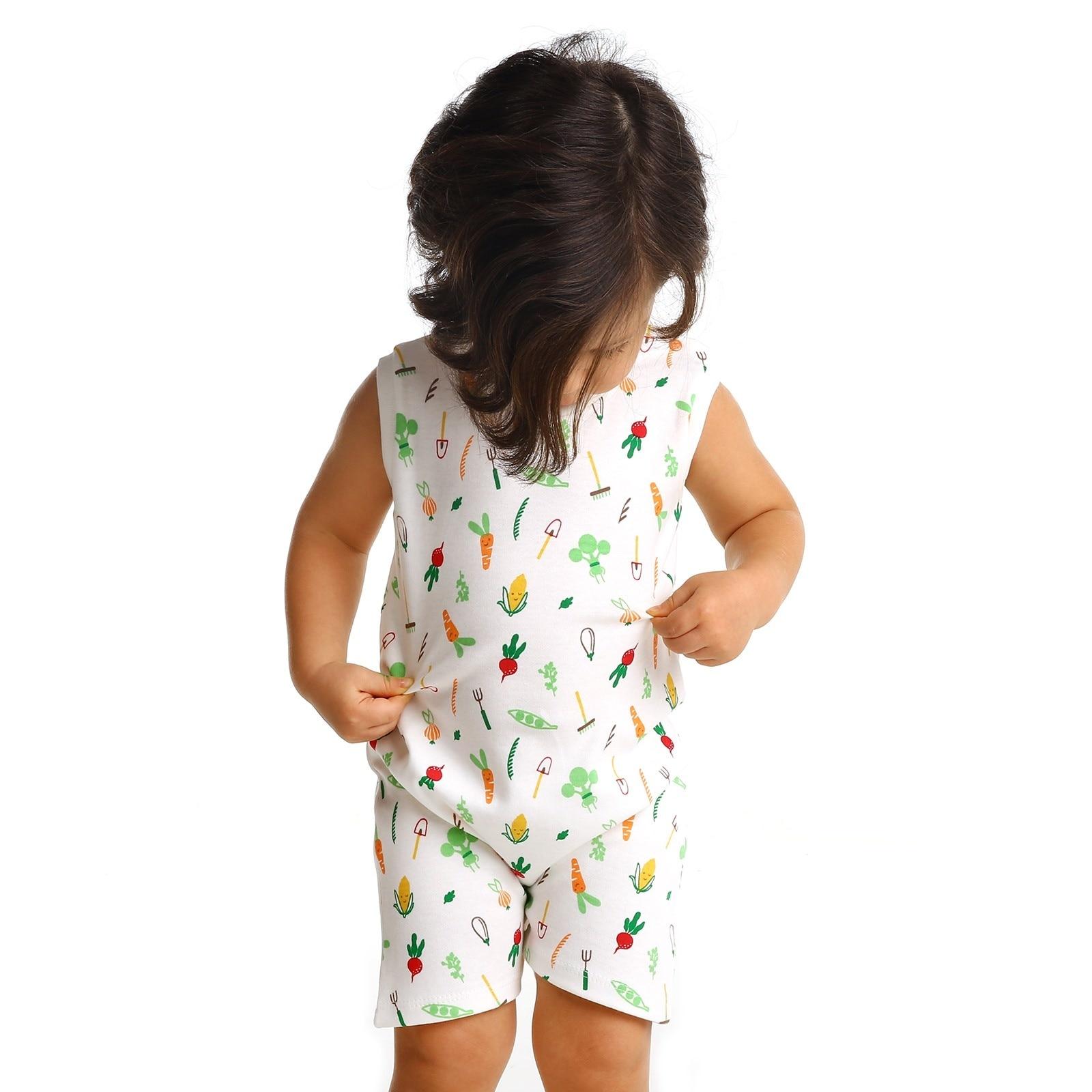 Ebebek HelloBaby Summer Baby Sweet Vegetables Sleeveless Jumpsuit