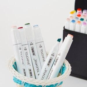 Image 3 - Touchfive маркеры для рисования эскизы спиртовые маркеры 30 40 60 80 168 цветов профессиональные художественные маркеры для анимации ручка для рисования манги
