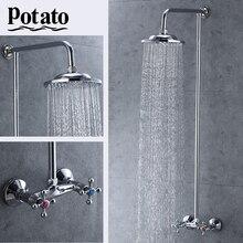 Potato Bathroom Shower Faucet Shower Set Economic type Faucet Bath Taps Rainfall Shower Head Mixer Bathtub p3565