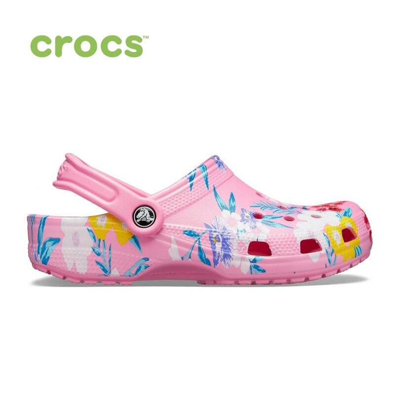 CROCS Classic Printed Clog UNISEX|Пляжные и уличные сандалии|   | АлиЭкспресс