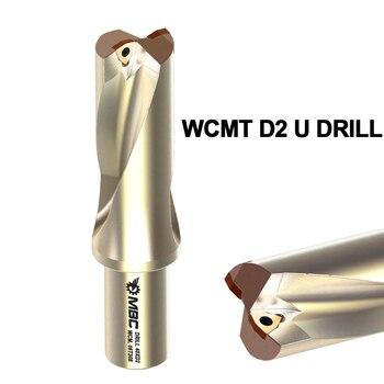 MBC 1pcs U Drill 2d milling cutter,metal drilling,tool holder,drill bit,core drill bit inserts wcmt040208 matched inserts spmg07t308 drilling bit indexable drilling tool u drill ud30 sp07 260 w25
