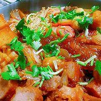 #福气年夜菜#红红火火白菜粉丝煲的做法图解12