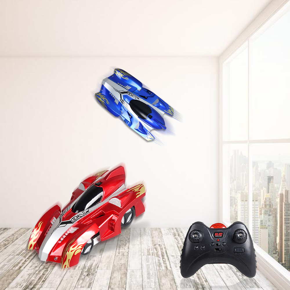 Wholesale Remote Control Climbing Wall RC Car with LED Lights 360 Degree Rotating Stunt Toys Machine