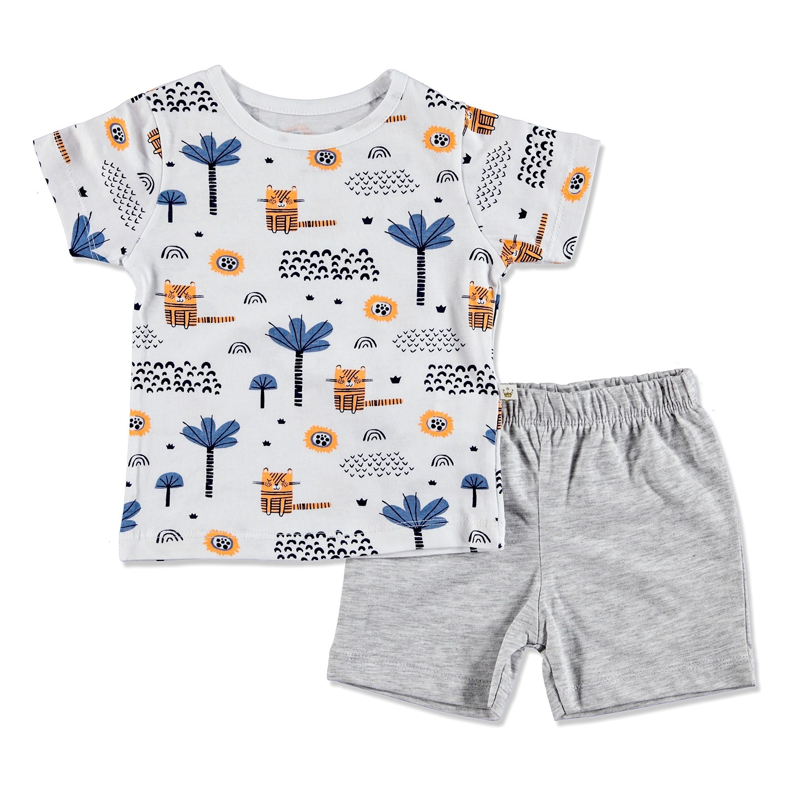 Ebebek For My Baby Summer Boy Alf Supreme Short Sleeve T-shirt 2 Pcs Set