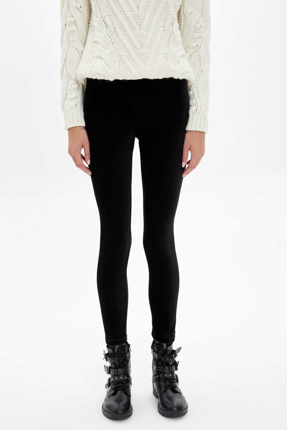 DeFacto Fashion Women Slim Trousers Female Solid Leggings Sport Pants For Women's Casual Crop Sweatpants Autumn - M2534AZ19WN