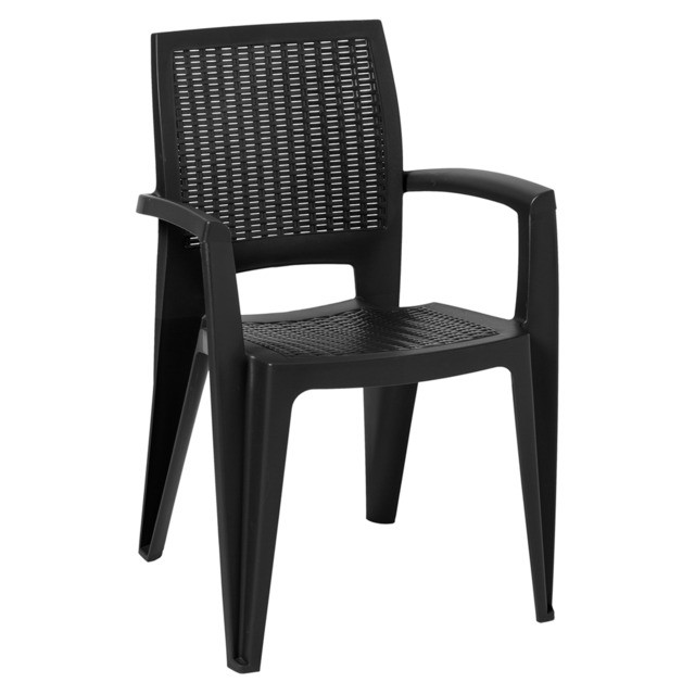 Armchair CAROL, Stackable, Polypropylene Anthracite