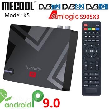 MECOOL K5 DVB T2 S2 TVBOX 2G 16G Smart Tv Box z systemem Android 9 0 procesor Amlogic S905X3 2 4G 5G WIFI LAN odtwarzacz multimedialny podwójny Wifi do odzyskiwania oparów benzyny na nagrywanie tanie i dobre opinie NONE 100 M CN (pochodzenie) Amlogic S905X3 Quad core ARM Cortex-A55CPU 16 GB eMMC HDMI 2 1 2G DDR3 0 5KG DC 5 V 2A 4K @ 60 Hz
