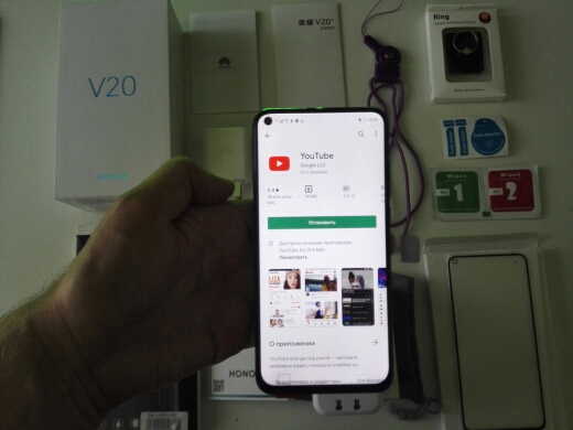 Honor V20 Global ROM 6GB 8GB 128GB Support NFC Google Play SuperCharge 2310x1080P 6.4 inch Full Screen Smartphone 48MP Camera