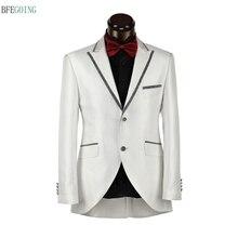 Ivory Regular Single Breasted Groom Wear Wedding Suit Bride Tuxedo+Pants Custom made