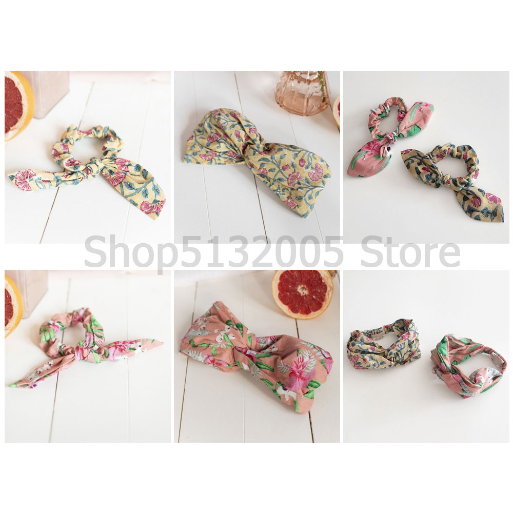 Spring And Summer 2020 New LM Series Ethnic Style Floral HAIR TIE AKIMMI LEMON FLOWERS
