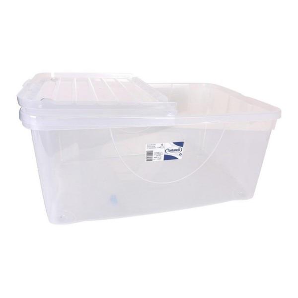 Storage Box with Lid Tontarelli Plastic Transparent|Foldable Storage Bags| |  - title=