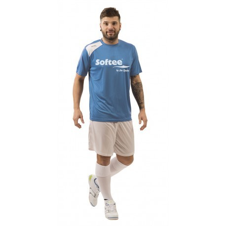 CAMISETA SOFTEE FULL BY JIM SPORTS HOMBRE - TALLA XXL - COLOR TURQUESA Y BLANCO