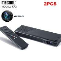 2 pezzi Android TV 10 con videocamera HD 1080P S905X4 DDR4 16GB tvbox Smart Home per videochiamate Live Show Mecool NOW KA2 Box Voice