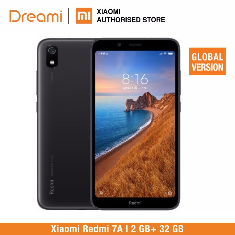 Global Version <font><b>Xiaomi</b></font> <font><b>Redmi</b></font> <font><b>7A</b></font> 32GB ROM 2GB RAM (Brand New and Sealed) <font><b>7a</b></font> 32gb image