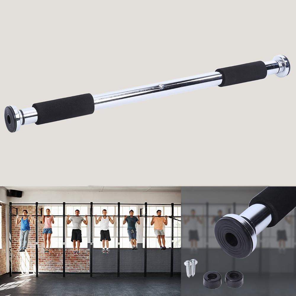 Door Horizontal Pull Up Bars With Anti Skid Rubber And Frosted Foam For Gym Workout