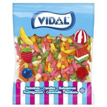 VIDAL MINI assorted fingers gumdrops. 1 KG MINI candy bag with different flavors and striking colors. GLUTEN Free