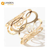 Gold cuff bracelet sent to the fashion and the fashion jewerly/best Gifts high quality for women
