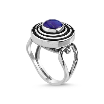 Silver 925 Sterling Lapis Lazuli Stone Handwork Ring