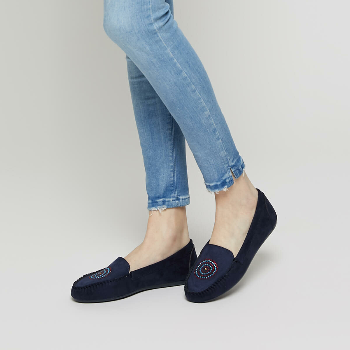 FLO DS19038 Navy Blue Women 'S Loafer Shoes Miss F
