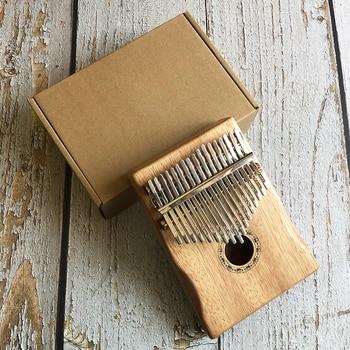 17 Key Kalimba Customized Engrave African Solid Pine Mahogany Thumb Finger Piano Sanza Mbira Calimba Musical Instruments
