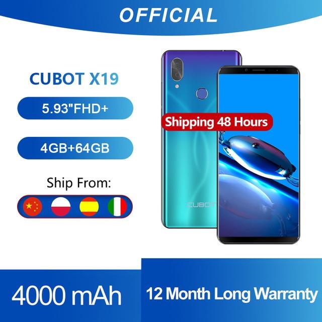 "Cubot X19 Smartphone Helio P23 Octa Core 5.93 ""2160*1080 Fhd + Display 4000Mah 4Gb + 64Gb Gezicht Id Type C Twilight Gradiënt Kleur"